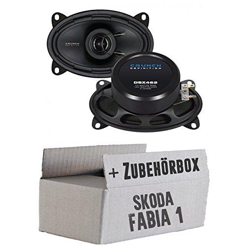 Crunch DSX462-4x6 Koax-System - Einbauset für Skoda Fabia 1 6Y Kombi Combi Heck - JUST SOUND best choice for caraudio