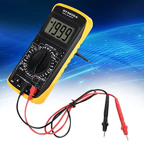 Multimeter,DT-9205A Handheld LCD Digitalmultimeter AC/DC Volt Amp Ohm Kapazität Hz Tester Handmultimeter 9205A Universalmessgerät,mit Schutzbucht und Paar Prüfspitzen