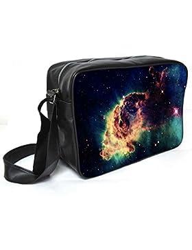 Snoogg Meteorit Platz Leder Unisex Messenger Bag für College Schule täglichen Gebrauch Tasche Material PU