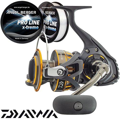 Daiwa BG Pilkrolle Meeresrolle gratis Pro Line x-treme Schnur (3000)