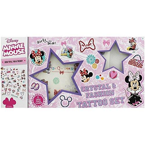 Disney Minnie Mouse Crystal & Fashion Tattoo 6 Sheet Set