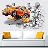 Wandsticker Rennauto Wandtattoo Wandbilder Aufkleber für Auto Fans