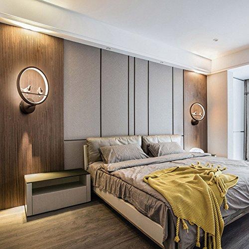 Nordique Postmoderne Minimaliste Fer LED SMD Noir/Blanc Applique Murale  Chambre Art Romantique Creative Oiseau Lecture Mur Lampe Salon Couloir  Cloakroom ...