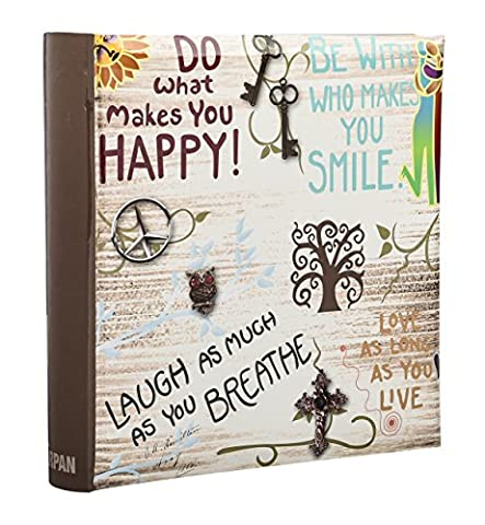 Arpan Large Slip In Memo Photo Album Holds 200 Photos 6'' x 4'' - Life inspirational slogans Photo Album