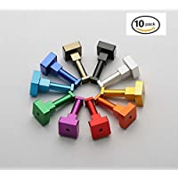 LiebHome 10 piece colourful space aluminium hook, coat hooks / towel / wall hooks for bath and kitchen / beautiful hat hooks / coat hooks / towel holders / waterproof and stainless