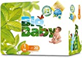 Bio Baby Biodegradable Nappies- Size 1, 20 Nappies (pack of 2)