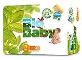 Bébé Bio biodégradable nappies- Taille 1, 20couches (Lot de 2)
