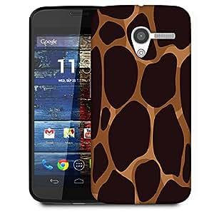 Snoogg Giraffe Pattern Designer Protective Phone Back Case Cover For Moto X / Motorola X