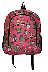Grade and Middle School Fashion Print Backpack - Custom Embroidery Available (Embroider Name - Cactus Print)
