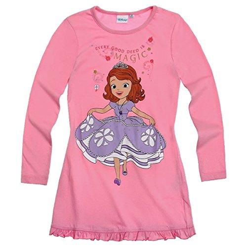Disney Sofia die Erste Mädchen Nachthemd langarm 3 schöne Farbvarianten, Farbe:rosa;Größe:92 (Sofia Die Erste Kleider)