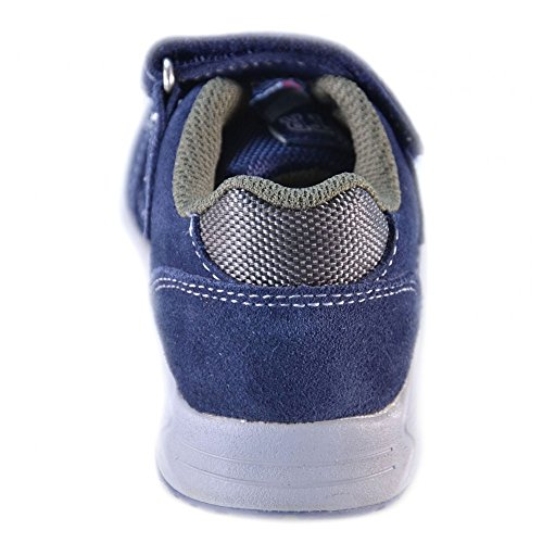 Naturino - Naturino Scarpe Bambino Blu Navy Militare Pelle Velluto Strappi Velcro Sport 419 Blu