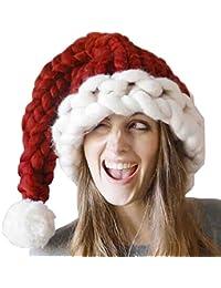 Weihnachtsmütze Piebo Winter Strickmütze Warm Stricken Ski Beanie Schädel Caps Hut Wintermütze für Kleinkinder und Erwachsene Weihnachten
