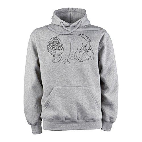Winnie The Pooh Logo Eeyore With Egg Basket Not Satisfied XXL Unisex Hoodie (Eeyore Hoodie)