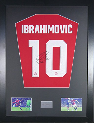 Zlatan-Ibrahimovic-manchester-united-Signed-Shirt-Display-with-COA
