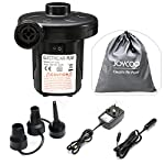 Joycoo Electric Pump Quick Inflator for Air Mattress Air Bed Paddling Pool Swimming Ring Camping Inflatables 3 Nozzles…