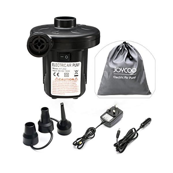 Joycoo Elektrische Luftpumpe Elektrische Pumpe Inflator Deflator für aufblasbare Matratze Kissen Bett Boot Schwimmring 2…