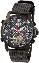 Comprar Aatos AigosBBB - Reloj de caballero automático, caja y correa de acero inoxidable bañado en negro, esfera de fibra de carbono