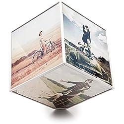 Balvi - Marco Kube giratorio 6x 10x10, 1xAA (No incluida)