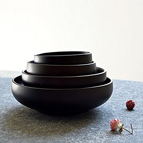 K&C 4 Inches Sapele Wood Salad Bowl Serving Salad Pasta Soup and Fruit Small