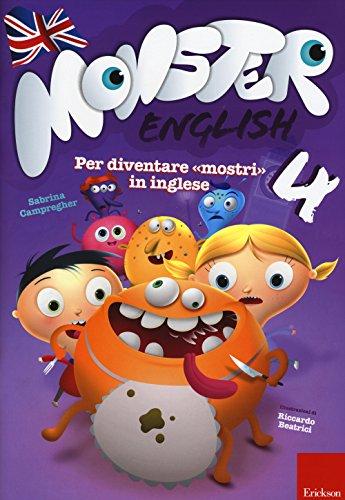 Monster english. Per diventare «mostri» in inglese. Con adesivi: 4