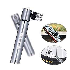 Aolvo Pompa a mano bici Mini Bike Pump con kit di attrezzi di riparazione bici multifunzione, pompa per pneumatici in lega di alluminio per valvole