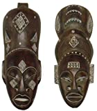 Wandmaskenset Maske Africa WOMAN und Afrika MAN, handgearbeitete Holz-Masken, Wandmaske