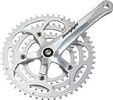 Stronglight Impact - Guarnitura tripla per bicicletta, Argento (argento/nero), 34/50 denti