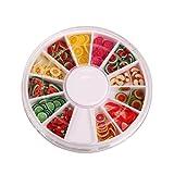 nicebuty staibc Nailart Werkzeuge 144pcs 3D Fimo Slice fresh fruit Face Dekoration