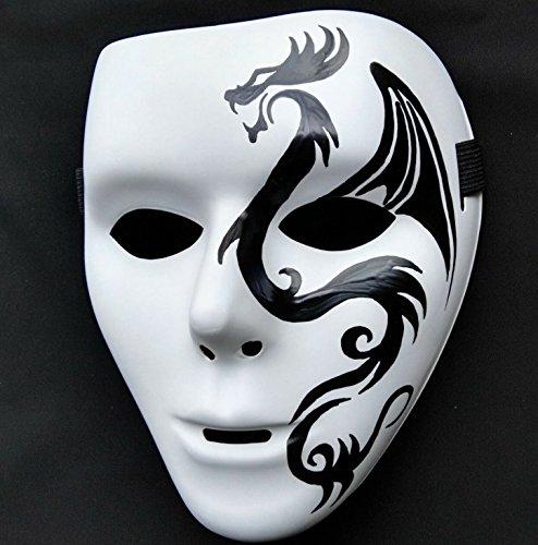 Halloween Handbemaltmaske Beängstigend Maske Beängstigend Maske, Zombie Maske Männlich Und Weiblich Zeigen Maske Ghost Dance handbemalt 101