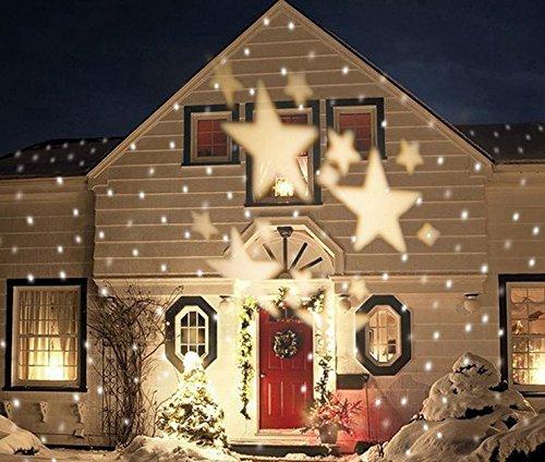 (LUCKY CLOVER-A Weihnachten Projektor draußen draußen Hochzeit feiern Hintergrund Nacht Licht Scheinwerfer Moving Lighting , white)