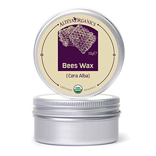 Alba Organics (Alteya Bio Bienenwachs 120gr - 100% USDA Organic-zertifizierte Bienenwachspellets (Cera Alba))