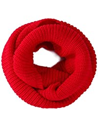 niceeshop(TM) Soft Comfortable Warm Wool Knit Infinity Scarves Loose Loop Circle Scarf Wrap For Women-Red