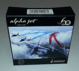 maquette alpha jet patrouille de france 60 ans mod le au 1 200 me jeux et jouets. Black Bedroom Furniture Sets. Home Design Ideas