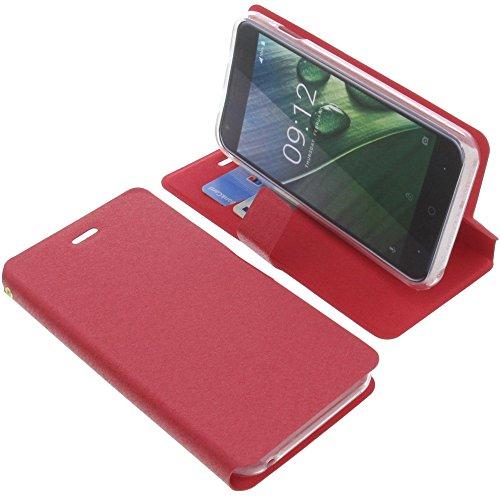 foto-kontor Tasche für Acer Liquid Z6 Book Style rot Schutz Hülle Buch