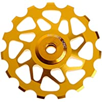 lpyfgtp - Rodamientos para Bicicleta de montaña y Bicicleta de Carretera, 15 T, Color Dorado, tamaño 15T