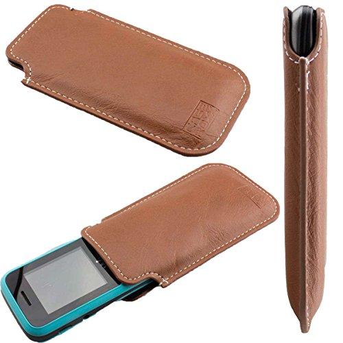 caseroxx Tasche/Hülle Wiko Lubi 3 - Schutzhülle für Smartphone (Handy Sleeve in Braun)