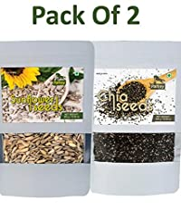Chia Seeds & Sunflower Seeds (Pack of 2) Each 300g