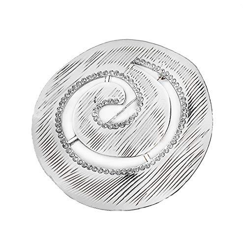 Treend24 Damen Brosche Schnecke Strass Silber Schal Clip Bekleidung Stecknadel Poncho Taschen Stifel Textilschmuck Eule Herz stern