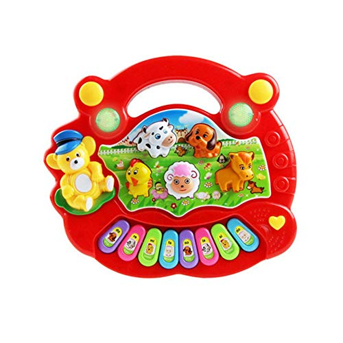 Kinderspielzeug Electronic Organ Farm Musikinstrument Baby Enlightenment rot Farm Music Box
