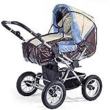 BABY-WALZ Regenschutz für Kinderwagen Wetterschutz, transparent