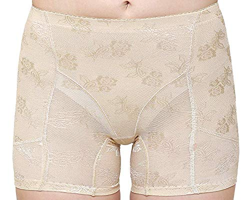 Shopolica Women's Blended Butt Lifter Padded Panty Shorts/Briefs/Bust Enhancer/Removable Pads/Body Shaper Underwear (Skin, Free Size)