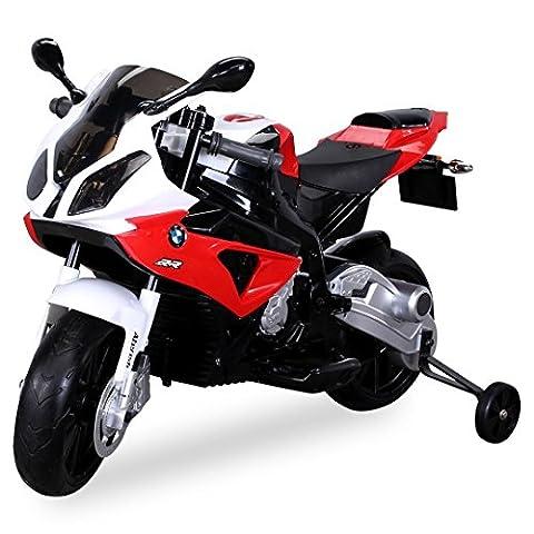 Moto Electrique 12 Volts Pour Enfant BMW S1000RR Rouge/Noir