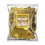 Tise zoetwaren goudtaler euromunten cacaotaler chocoladesmaak kinderverjaardag schatzoekopdracht carnaval worpmateriaal, 200 stuks