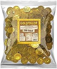 Tise zoetwaren goudtaler euromunten cacaotaler chocoladesmaak kinderverjaardag schatzoekopdracht carnaval worpmateriaal, 200