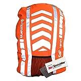 Salzmann 3M Rucksacküberzug, ausgestattet mit 3M Scotchlite, wasserdichter Rucksacküberzug für extragroße Rucksäcke, Regenschutz, Rucksack-Schutzhülle, ideal bei schlechtem Licht und Dunkelheit