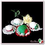 Pelote à épingles en forme de chapeau avec les couleurs italiens au crochet - Différentes dimensions - Handmade - ITALY