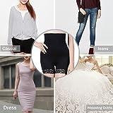 AMAGGIGO Femme culotte gainante taille haute Panty Minceur Avec Armature Body Gaine Amincissante Ventre Plat (XL/XXL 1=L ( Fits Waist 29-34 inch ), Noir-B) - 6