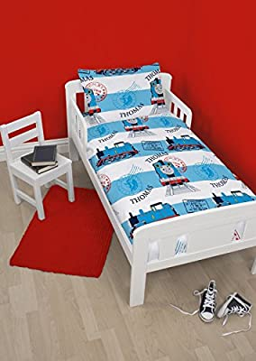 Thomas and Friends Adventure 4 in 1 Junior Rotary Bedding Bundle Set (Duvet, Pillow, Covers)