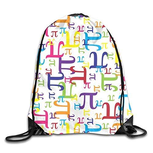 Pi Math-kinder Hoodie (Naiyin Colorful Pi Math Drawstring Backpack Bag Rucksack Shoulder Sackpack Sport Gym Yoga Runner Beach Hiking Dance)