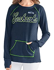 "Seattle Seahawks Women's G-III NFL ""Post Season"" Waffle Knit shirt Chemise"